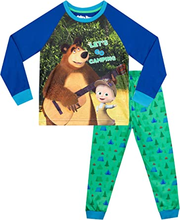 Masha y el Oso Pijamas de Manga Larga para niños