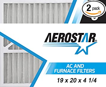 Aerostar 19x20x4 1 4 Merv 8 Carrier Replacement Pleated Air Filter 19 X 20 X 4 1 4 Box Of 2 Amazon Com