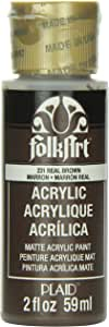 FolkArt Acrylic Paint in Assorted Colors (2 oz), 231, Real Brown