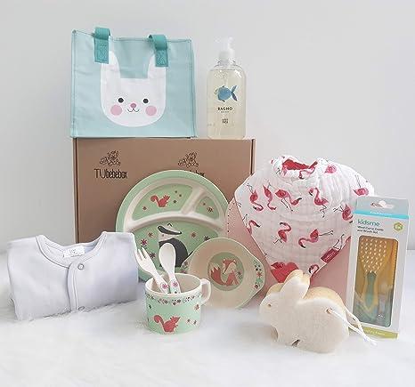 Canastilla bebé niña Happy Baby - Cesta regalo bebé a partir de 6 ...