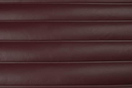 Pleated Marine Vinyl Upholstery Fabric Burgundy Red Sample 3