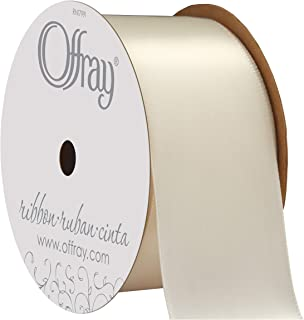 """product image for Berwick Offray 256008 1.5"""" Wide Single Face Satin Ribbon, Antique White Ivory, 4 Yds"""