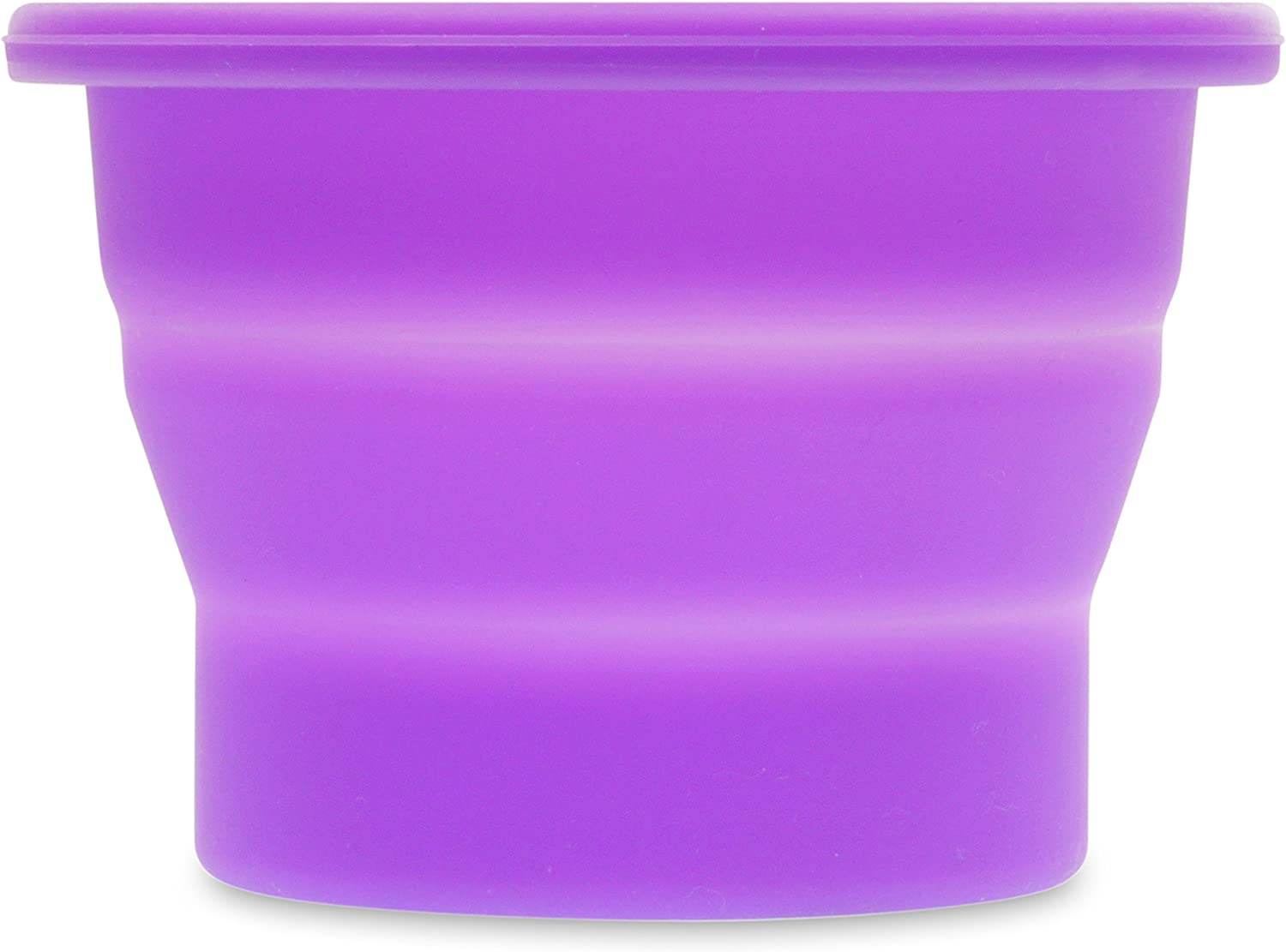 Anigan Collapsible Silicone Sterilizing Cup Designed for Sanitation and Storing Menstrual Cups, Lavendar