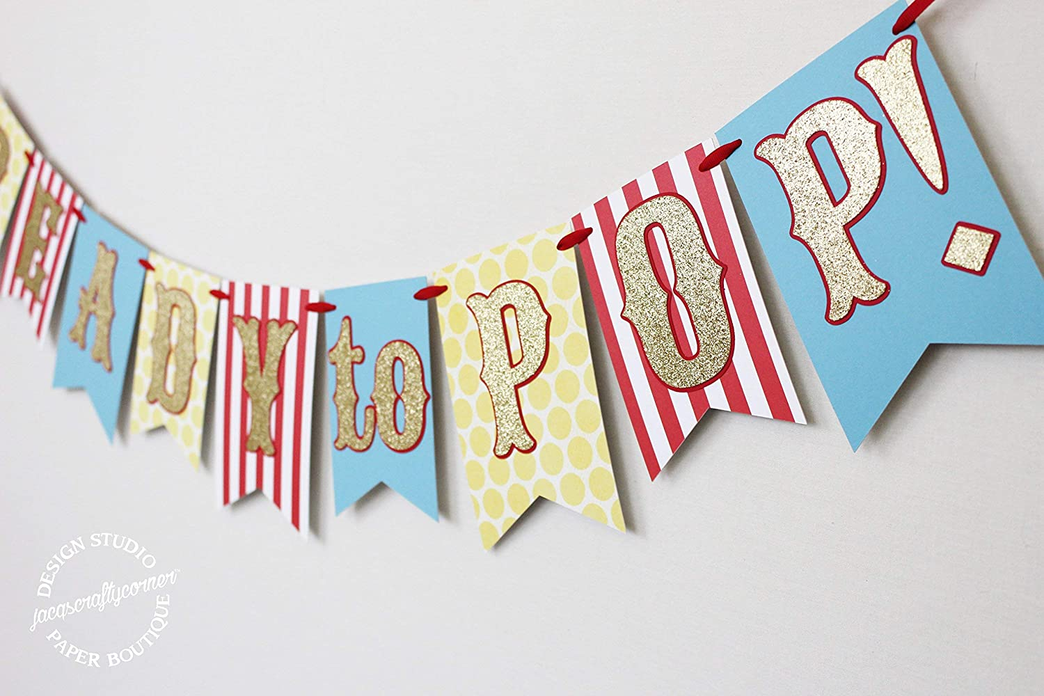 Ready to Pop! Circus | Carnival Themed Baby Shower Banner