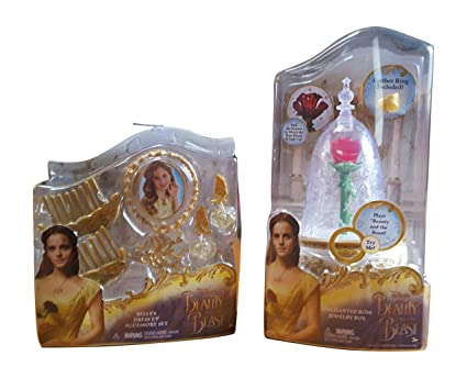 Amazoncom Disneys Beauty and The Beast Enchanted Rose Jewelry Box