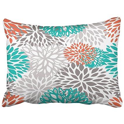 emvency decorativo fundas de almohada naranja gris blanco y ...