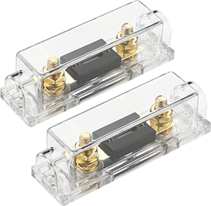 InstallGear 0//2//4 Gauge AWG In-Line ANL Fuse Holder with 300 Amp Fuse 300A Fuse