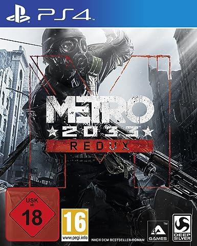 Deep Silver Metro: 2033 Redux (PS4) Básico PlayStation 4 Alemán vídeo - Juego (PlayStation 4, FPS (Disparos en primera persona), M (Maduro)): Amazon.es: Videojuegos