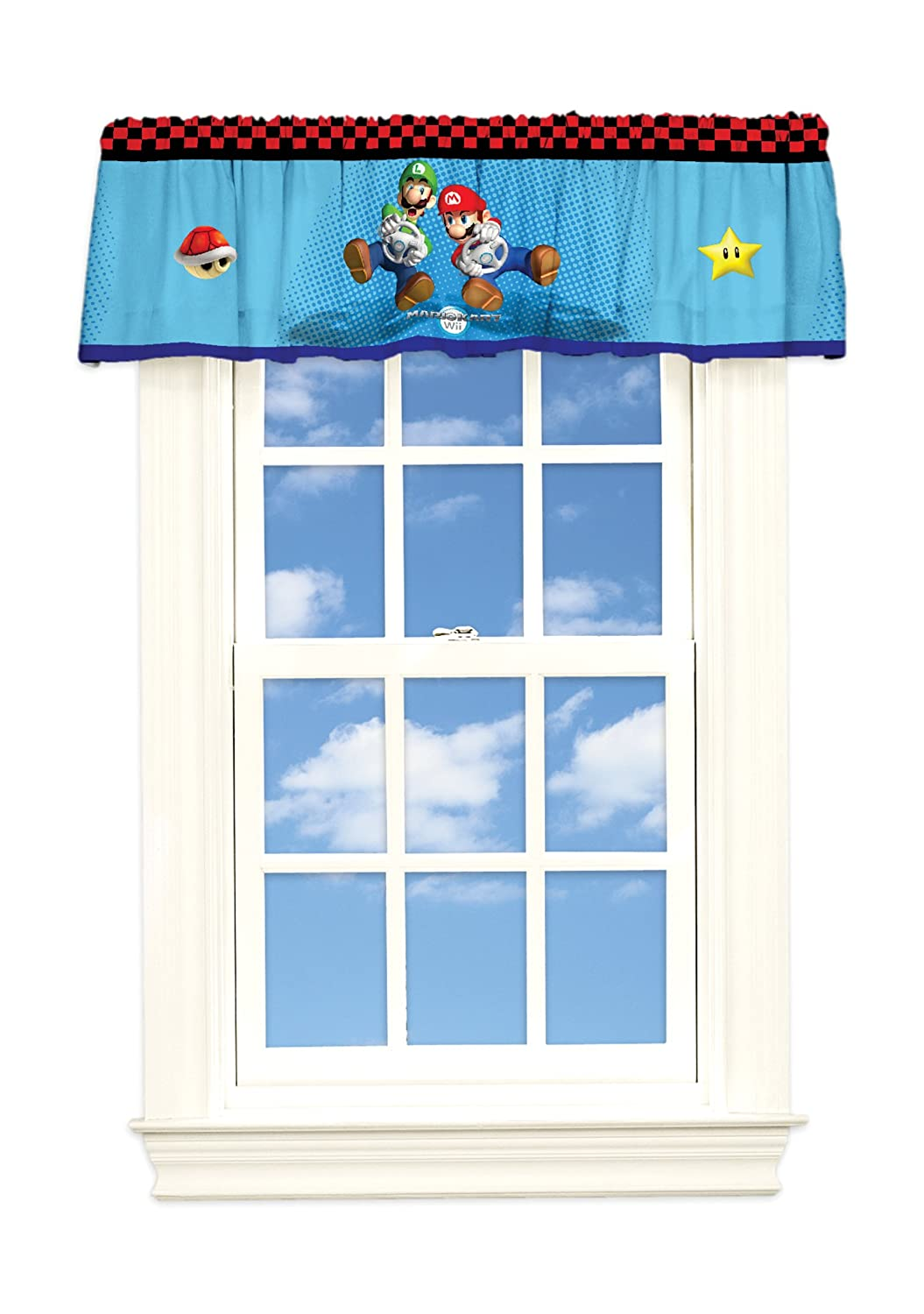 print white cute custom kids and blue p valance without cotton star curtainswithout room curtains