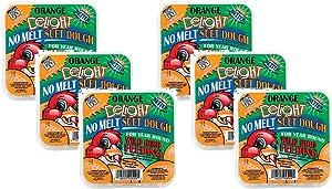 C&S Cs12529 11.75 Oz Orange Delight No Melt Suet Dough Wild Bird Food