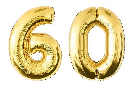 Globo de lámina de número en el color dorado | Número enorme ...