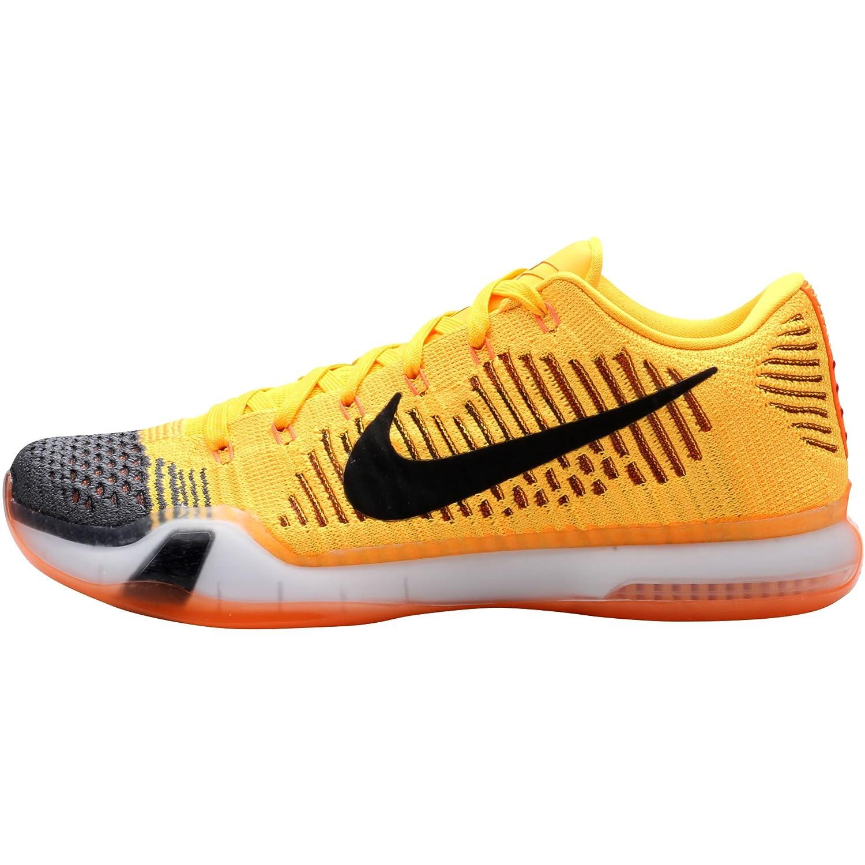 new product 3a667 5286e Nike Men s Kobe X Elite Low, Rivalry-Total Orange Black-Laser Orange-TMBLD  G, 8 M US  Amazon.in  Shoes   Handbags