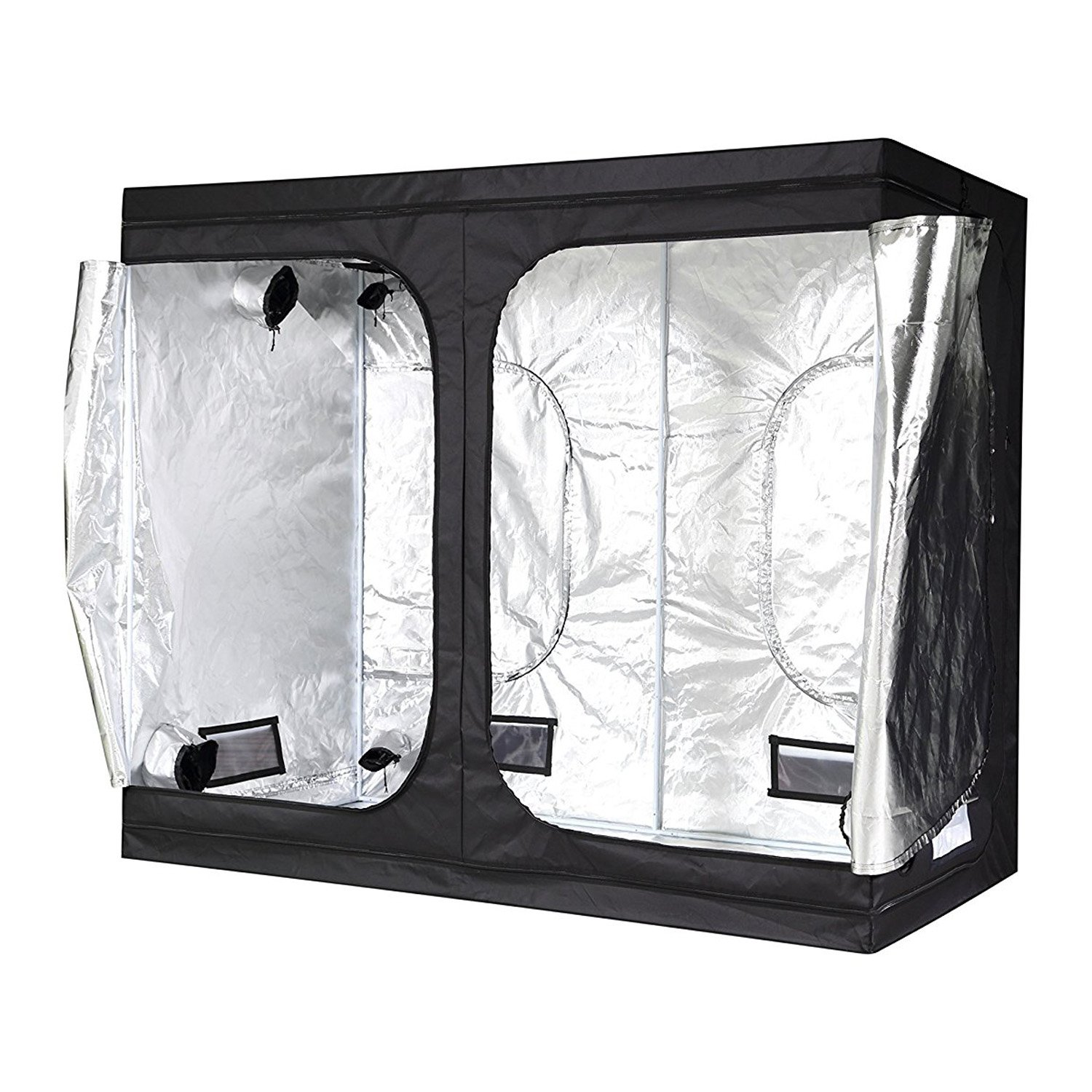 "iPower 96""x48""x80"" Hydroponic Water-Resistant Grow Tent"