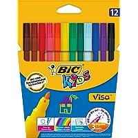 BIC Kids Visa Keçeli Boya Kalemi, 12'li Kutu