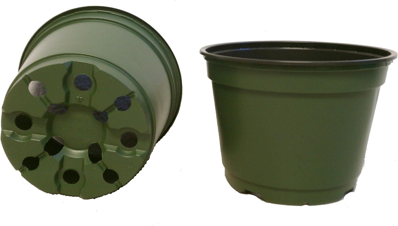 "6/"" Azalea green plastic pot greenhouse nursery 30 lot"