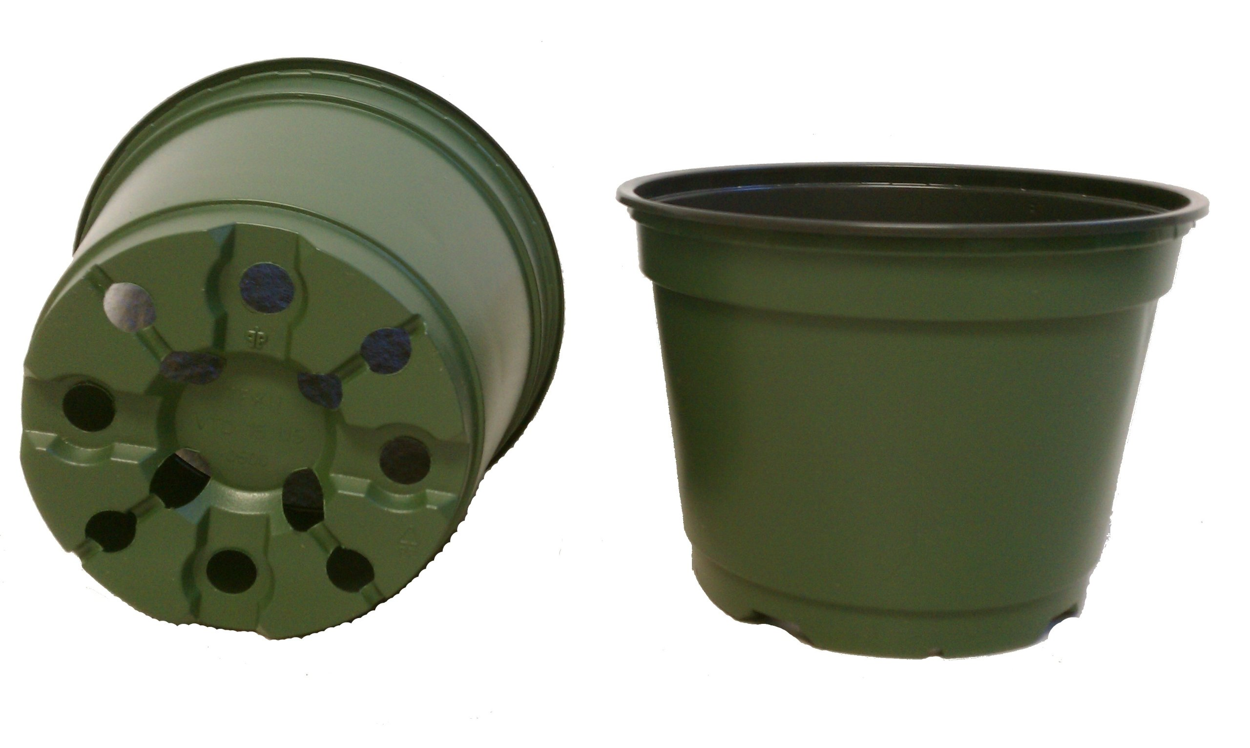 100 NEW 6 Inch TEKU Plastic Nursery Pots - Azalea Style ~ Pots ARE 6 Inch Round At the Top and 4.25 Inch Deep. by Teku