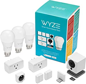 Wyze Cam 1080p HD Indoor Smart Home Camera with Night Vision, 2-Way Audio, Works with Alexa & The Google Assistant