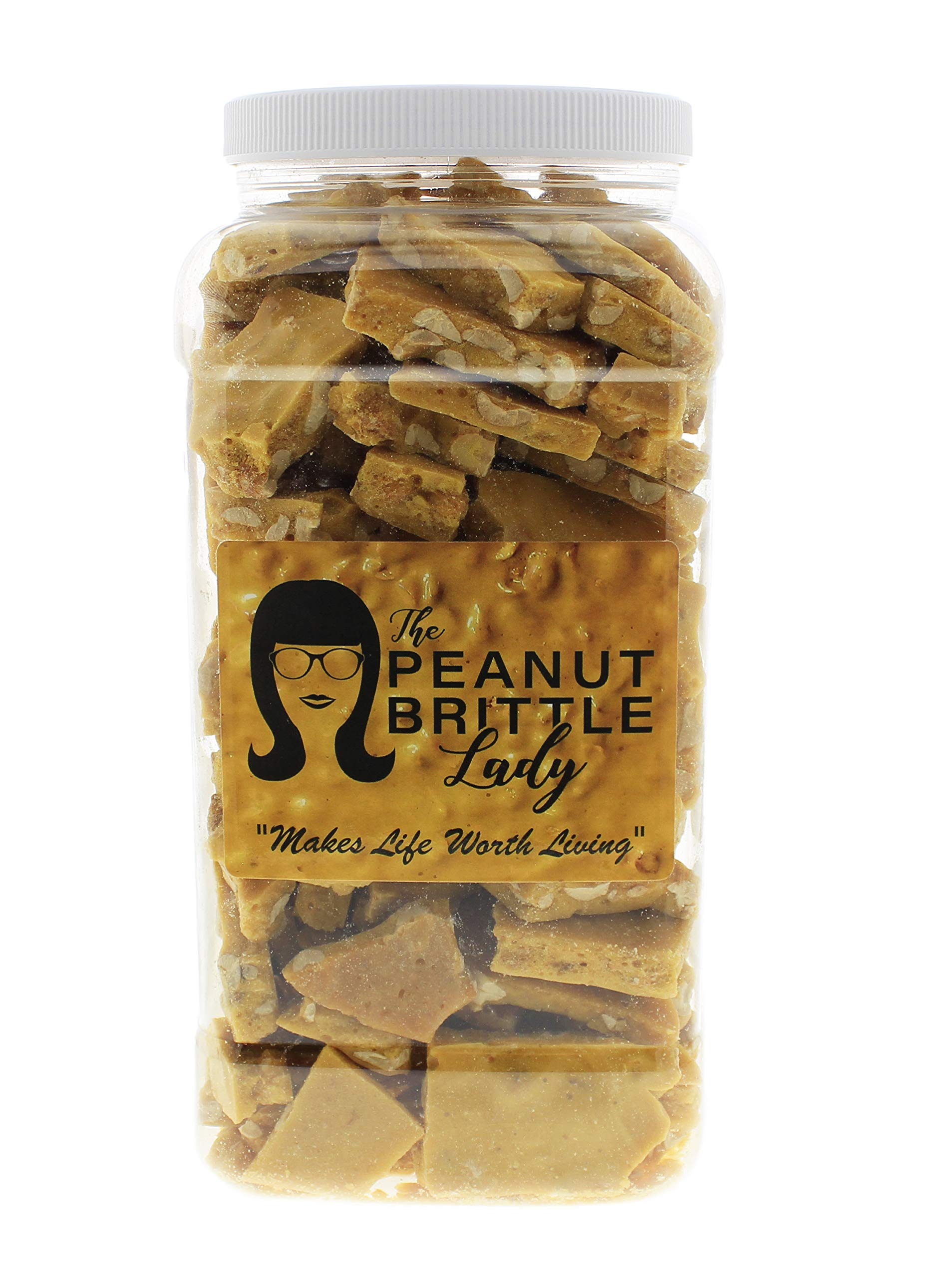 Top Shelf Handmade Gourmet Peanut Brittle Candy, Small Batch, Homemade; Size: OMG! (Oh My Gallon) by Peanut Brittle Lady