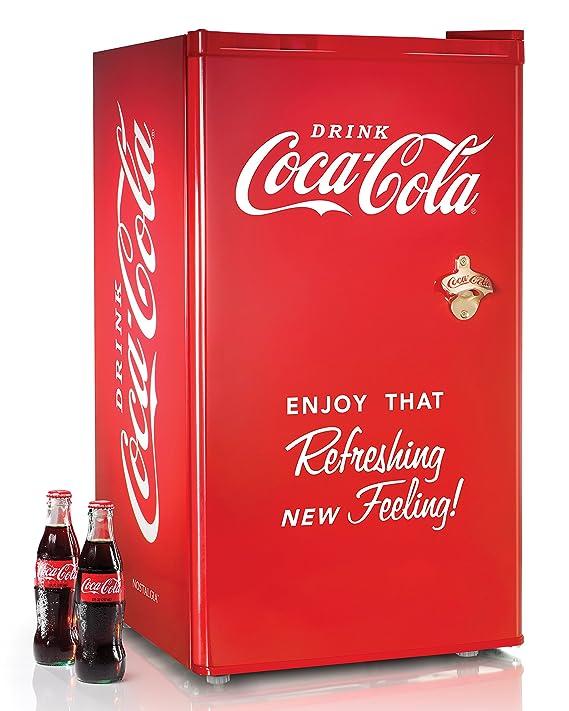 Com Nostalgia Coca Cola Series Rrf300sdbcoke 3 2 Cubic Foot Refrigerator With Freezer Compartment Appliances