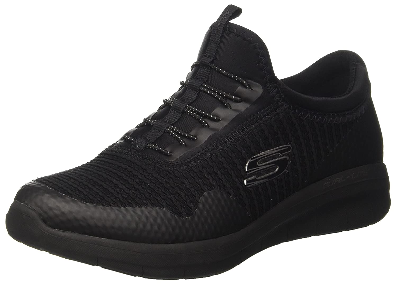 Skechers Women's Synergy 2.0-Mirror Image Fashion Sneaker B01MZC4DI5 9 B(M) US|Black