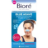 Bioré Blue Agave Pore Strips, 6 Nose Strips for Combination Skin, with Instant Blackhead Removal and Pore Unclogging…