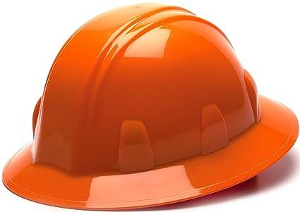14fee3d03 Pyramex Safety SL Series Full Brim Hard Hat, 4-Point Ratchet Suspension,  Orange