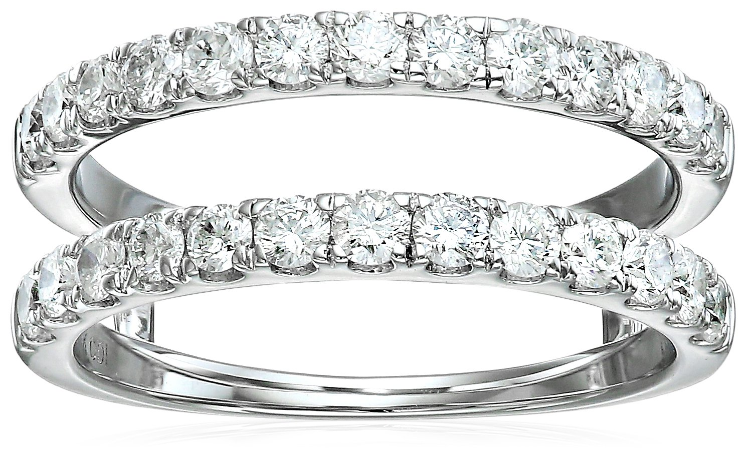 14k White Gold Diamond Solitaire Enhancer Ring (1cttw, I Color, I2 Clarity), Size 8