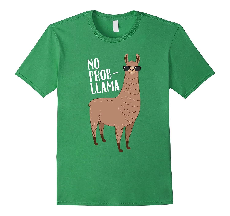 No Prob Llama - Funny Cute Llama Quote Illustration T Shirt-RT