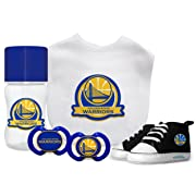 Baby Fanatic 5 Piece Gift Set,Golden State Warriors,One Size