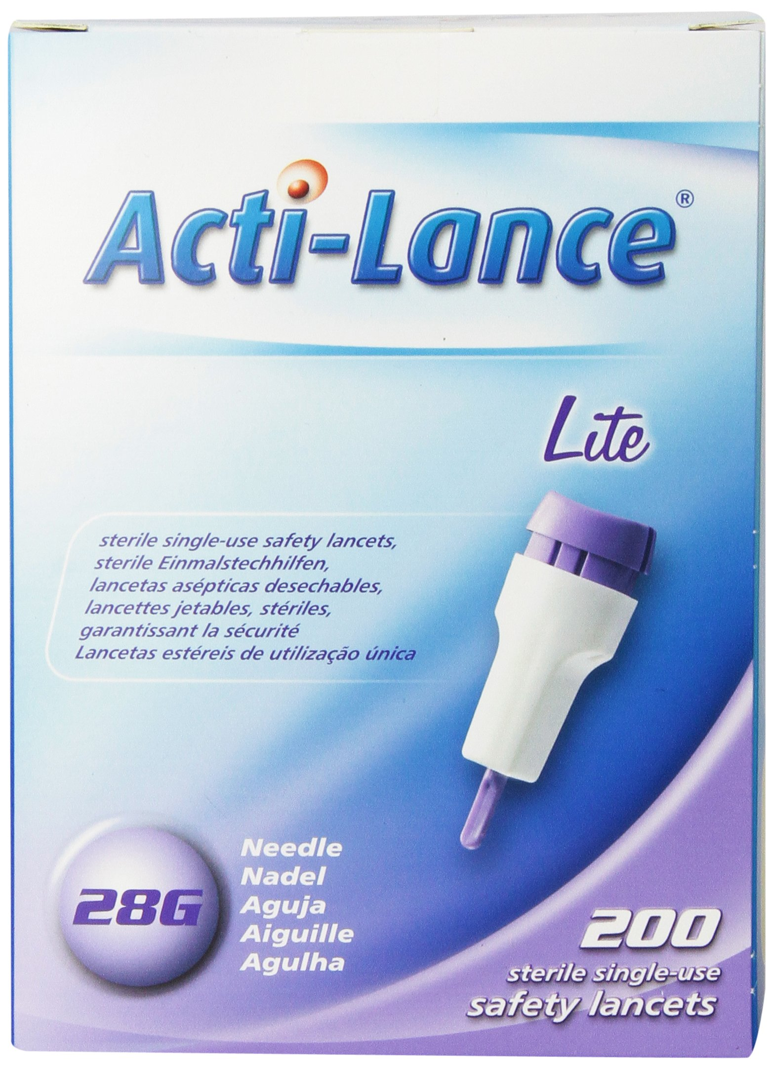 Acti-Lance Lite Single Use Lancets, 200 Count