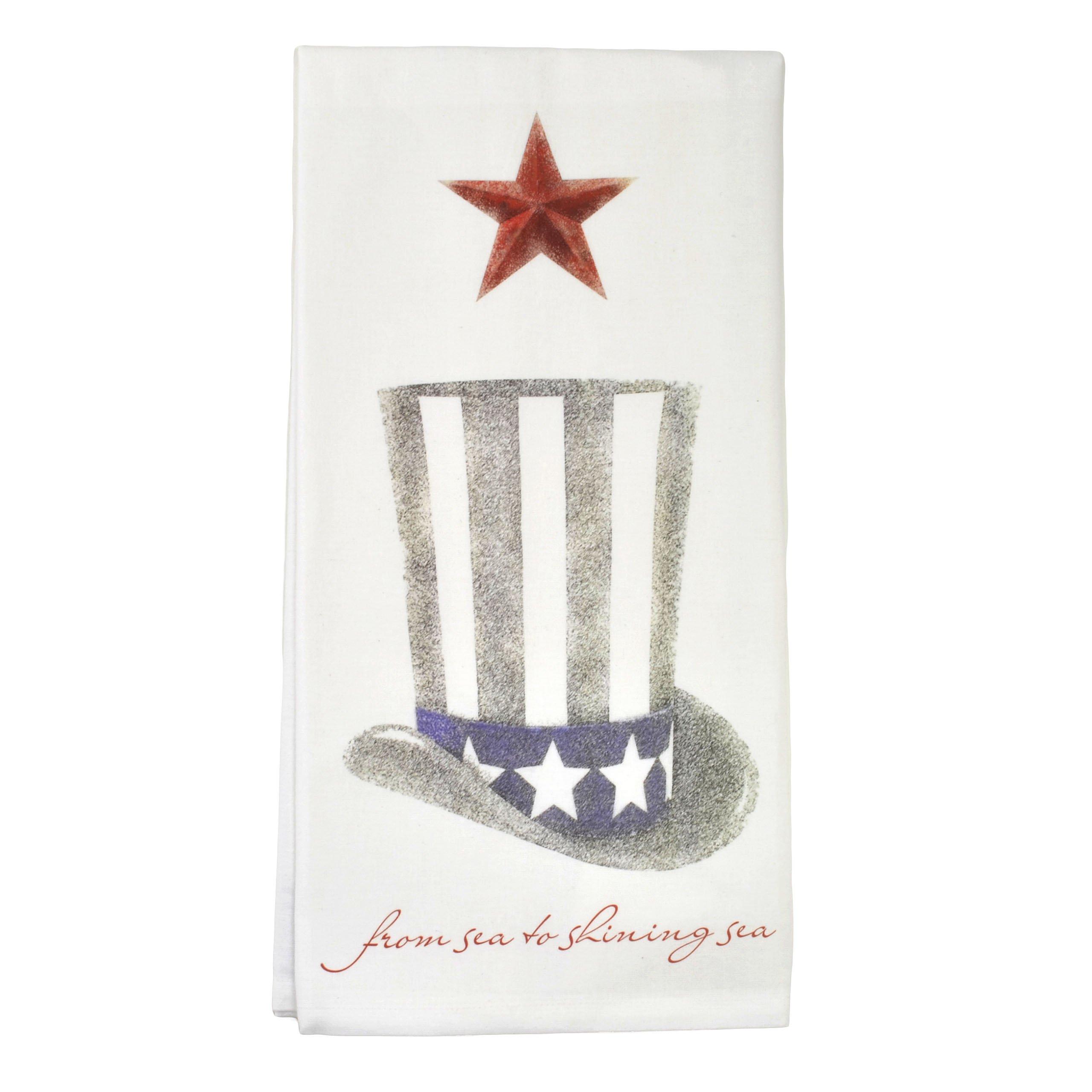 Montgomery Street Uncle Sam Hat Cotton Flour Sack Dish Towel