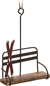 "Abbott Collection 27-LODGE/6096 Chair Lift w/Skis Ornament-5.5"" H, Multi-Color"