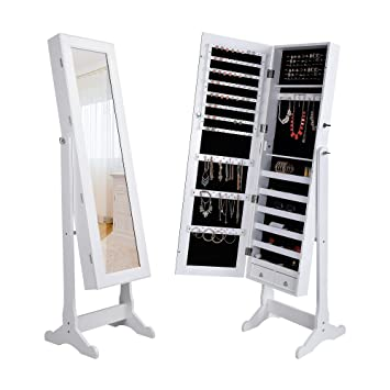 Amazoncom Dependable Direct Standing Mirror Jewelry Cabinet