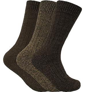 Sock Snob Hombre 3 pares invierno calientes senderismo lana trekking montaña calcetines para frio clima