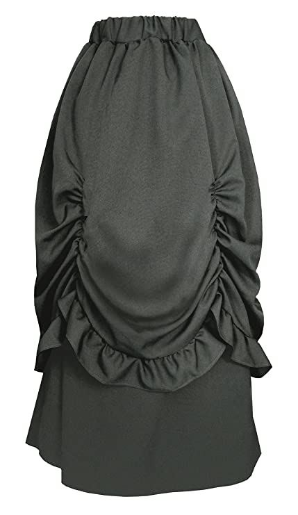 Victorian Clothing, Costumes & 1800s Fashion Cykxtees Victorian Steampunk Gothic Theater Edwardian Bustle Long Skirt $57.99 AT vintagedancer.com