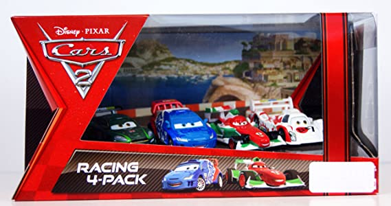 Disney Pixar Cars 2 Exclusive Racing 4-Pack Francesco Bernoulli, Shu Todoroki, Nigel Gearsley and Raoul CaRoule: Amazon.es: Juguetes y juegos