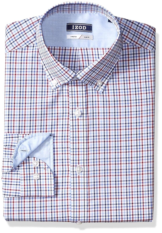 Izod Mens Dress Shirts Slim Fit Stretch Check At Amazon Mens