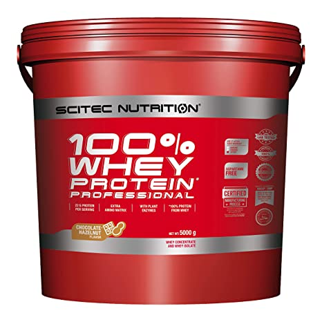 Scitec Nutrition Whey Protein Professional Proteína Chocolate, Avellana de Chocolate - 5000 g