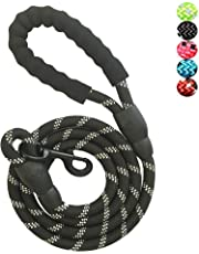 YSNJXL Strong Nylon Dog Leash Rope with Comfortable Padded Handle Training Lead for Medium and Large Breeds Dogs - Heavy Duty 5ft Long