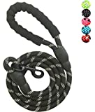 YSNJXL Strong Nylon Dog Leash Rope with Comfortable Padded Handle Training Lead for Medium and Large Breeds Dogs - Heavy…