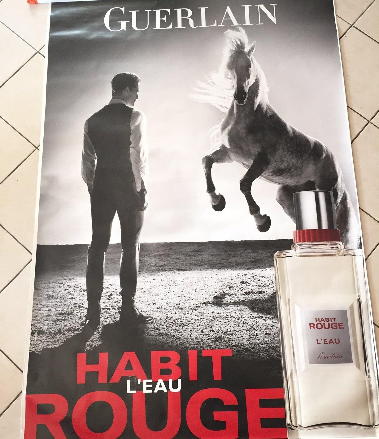Habit Rouge Affiche Parfum GuerlainCheval 120x175 Cm nP0kN8wOX