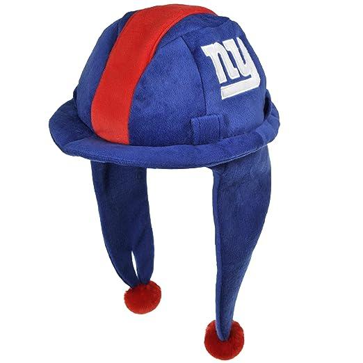 f72c37db4dbd4b Amazon.com : NFL New York Giants Thematic Mascot Dangle Hat : Santa Light  Up Hat : Clothing