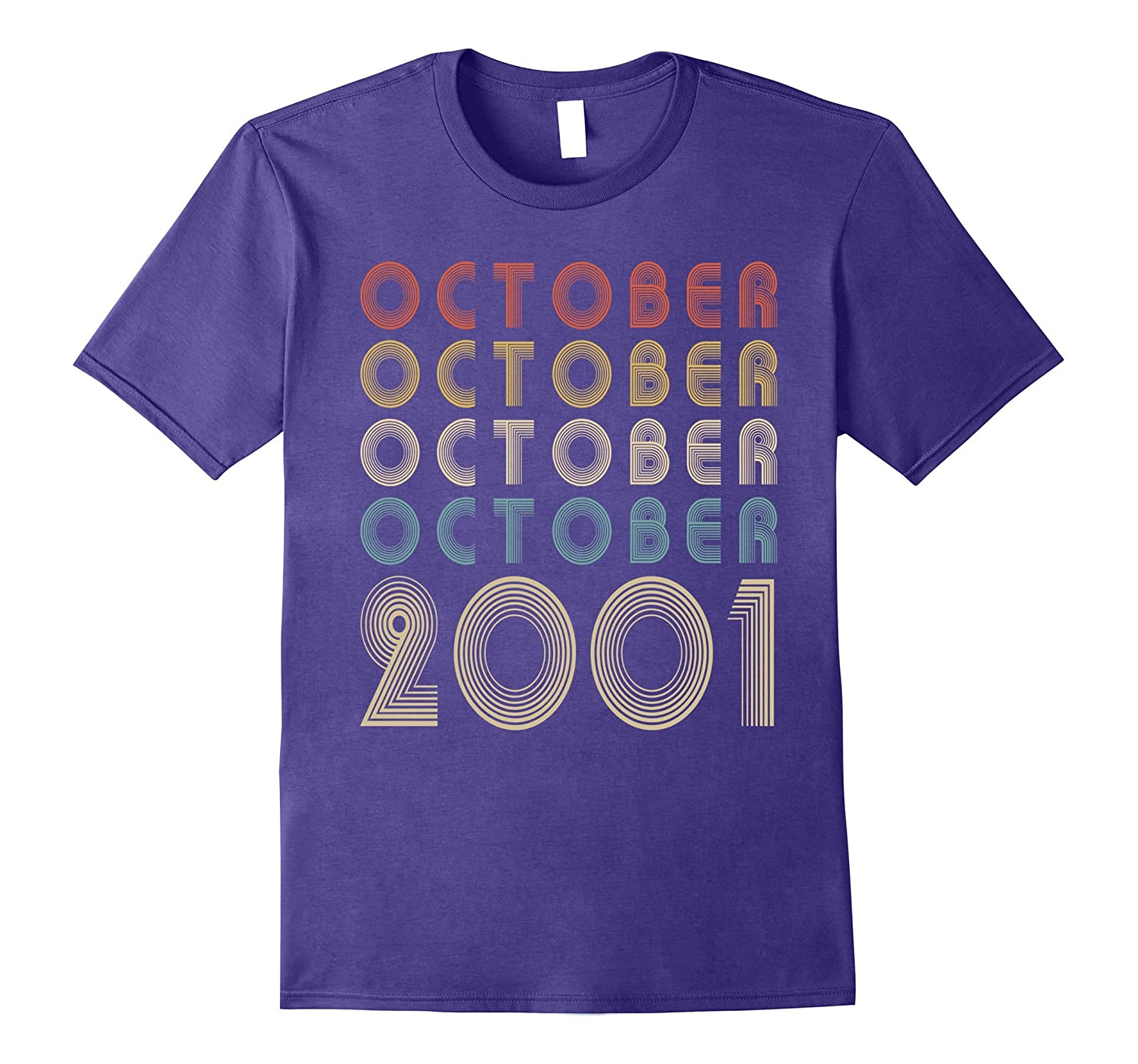 Retro Classic Vintage OCTOBER 2001 - 16th Gift 16 Years Old-Rose