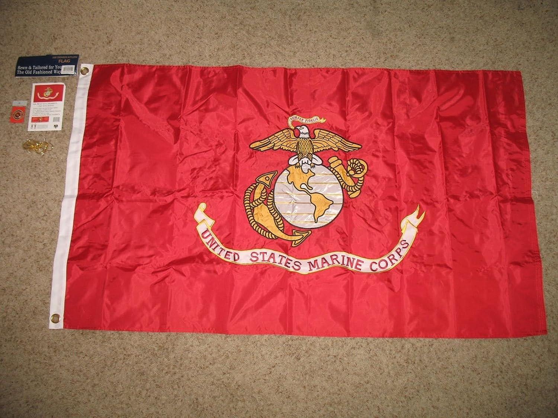 素晴らしい品質 3 3 5刺繍縫製( x x 5刺繍縫製( 600デニール海兵隊両面2plyナイロンフラグ B01NBOHMRB, オチグン:9dc870d0 --- school.officeporto.com