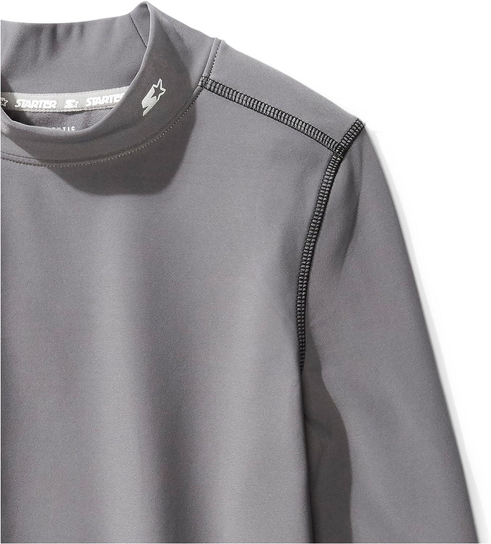 Starter Boys Long Sleeve Mock Neck Athletic Light-Compression T-Shirt Exclusive