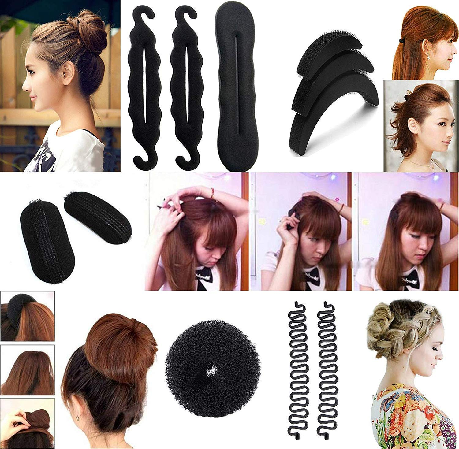 LEYSIN Hair Styles Accessories Tool for Women -Combo Pack of 11 Pieces product image