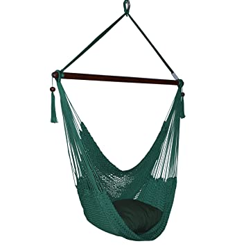 Wondrous Caribbean Hammocks Large Chair 48 Inch Polyester Hanging Chair Green Gamerscity Chair Design For Home Gamerscityorg