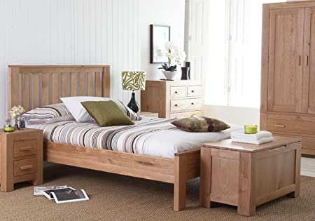 UNIQUECHIC FURNITURE - SOLID OAK CHUNKY CONTEMPORARY BEDROOM ...