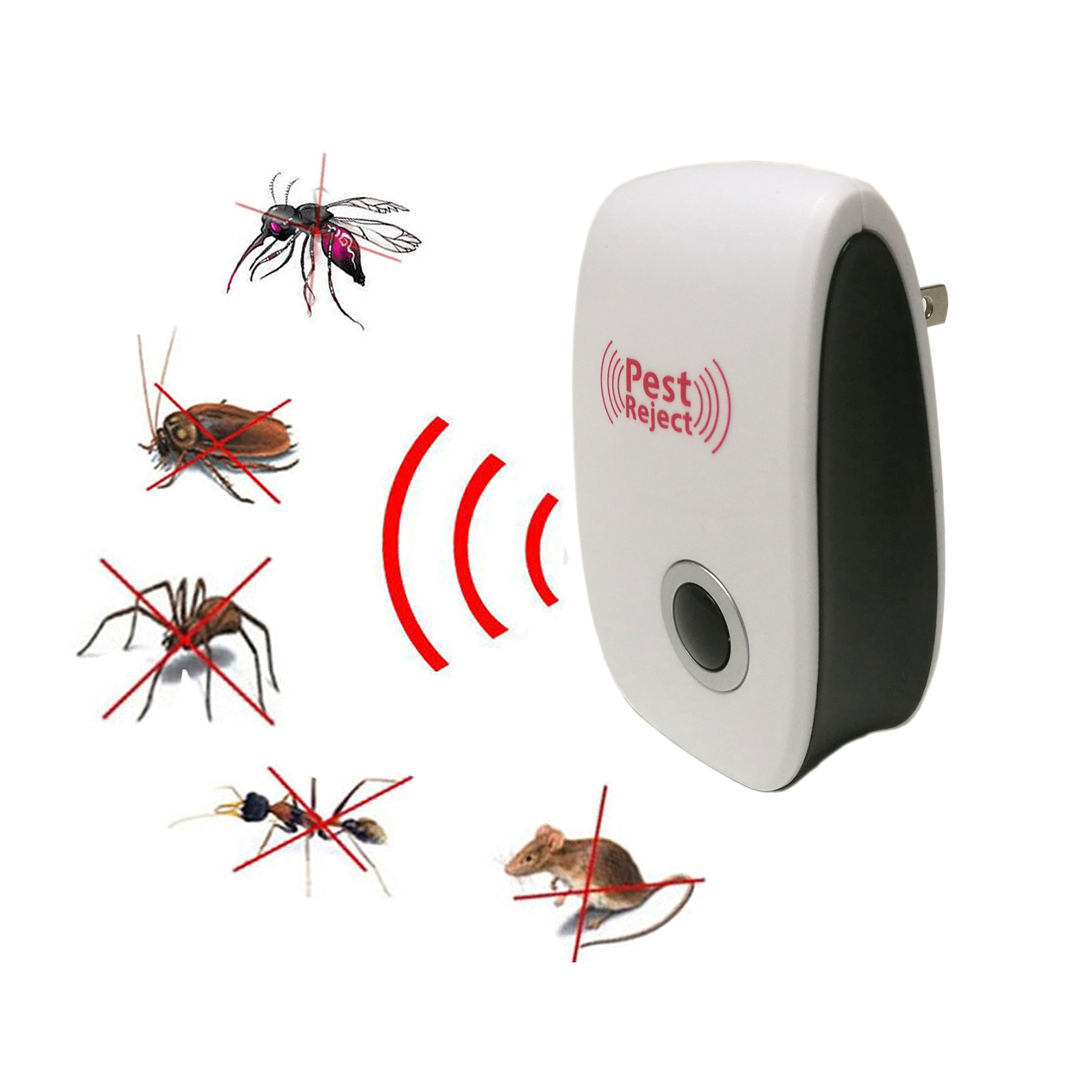 Yutudu Ultrasonic Pest Repeller Plug In Electronic Pest Repellent Insect Expeller Reject Mouse Mosquito Ant Flies Spider Bugs Repeller(6 pack)