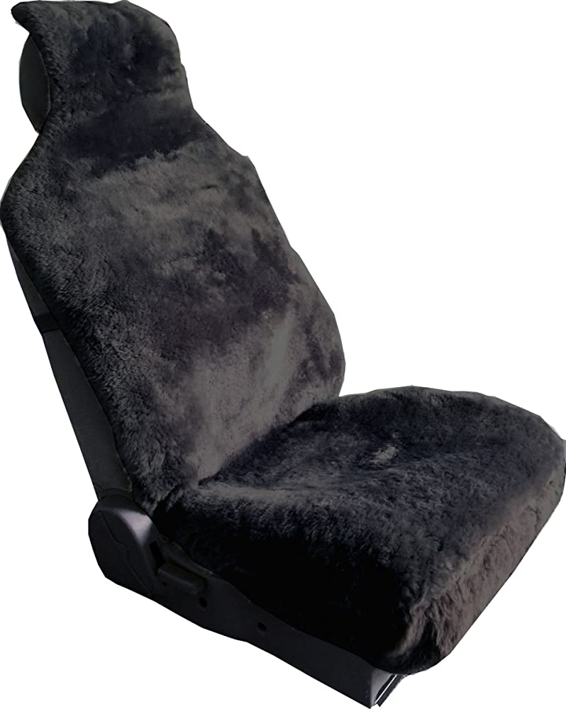 2. Aegis cover Luxury Australian Sheepskin Wrap Seat Cover Airbag Ready One Piece (CHARCOAL)